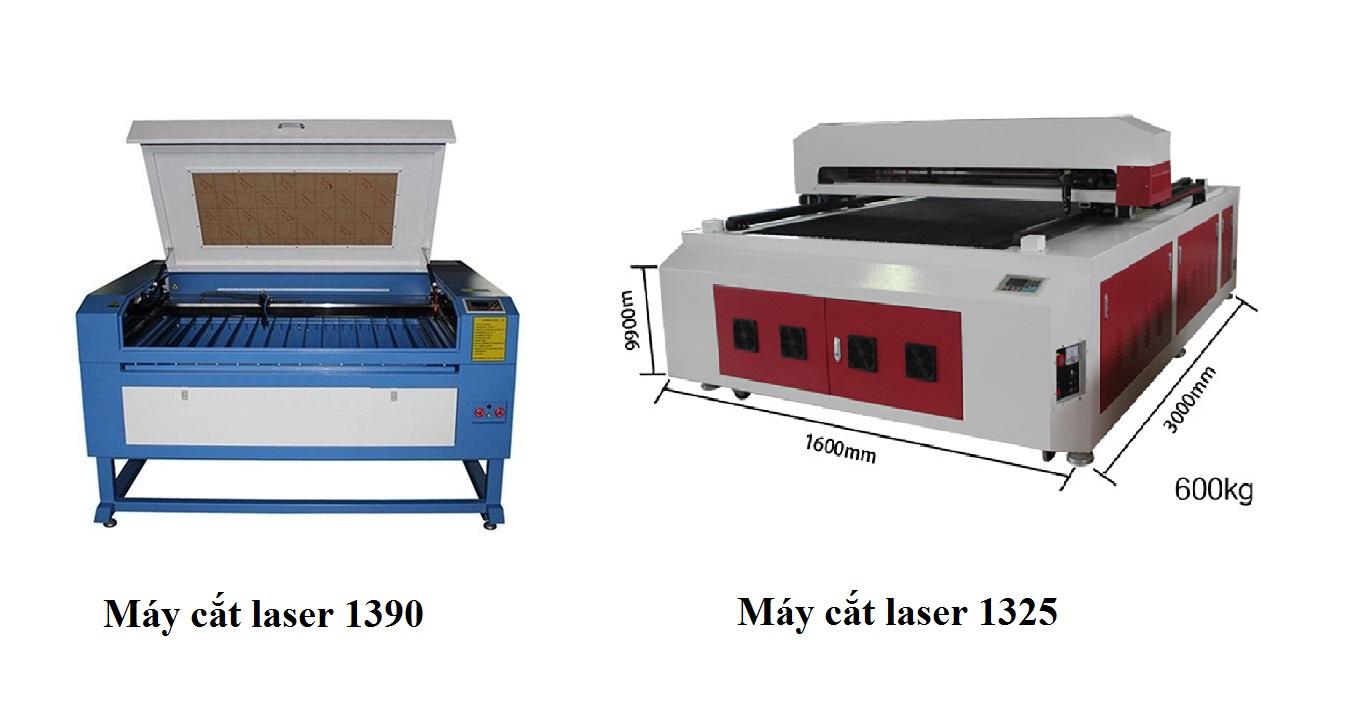 Máy cắt vải 1390 và máy cắt vải 1325
