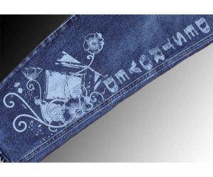 Khắc laser trên chất liệu jean