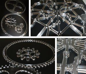 Sản phẩm cắt khắc mica từ máy khắc laser 6040
