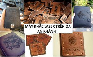 Một số sản phẩm da được khắc bằng máy laser