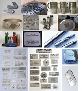Một số sản phẩm inox được khắc laser tinh xảo