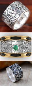 Nhẫn khắc hình thú