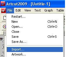 Làm thế nào để xuất file từ Corel sang Artcut?