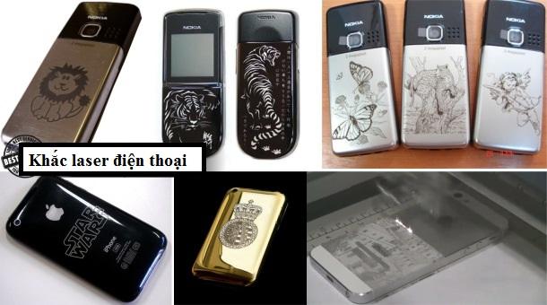 Máy khắc laser khắc được những loại điện thoại nào?