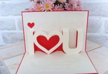 Cách làm thiệp 3D Handmade tặng Crush