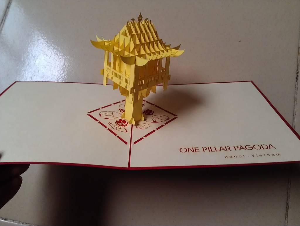 thiệp chùa một cột pop up