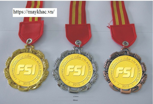 Huy chương độc đáo được gia công bằng công nghệ laser