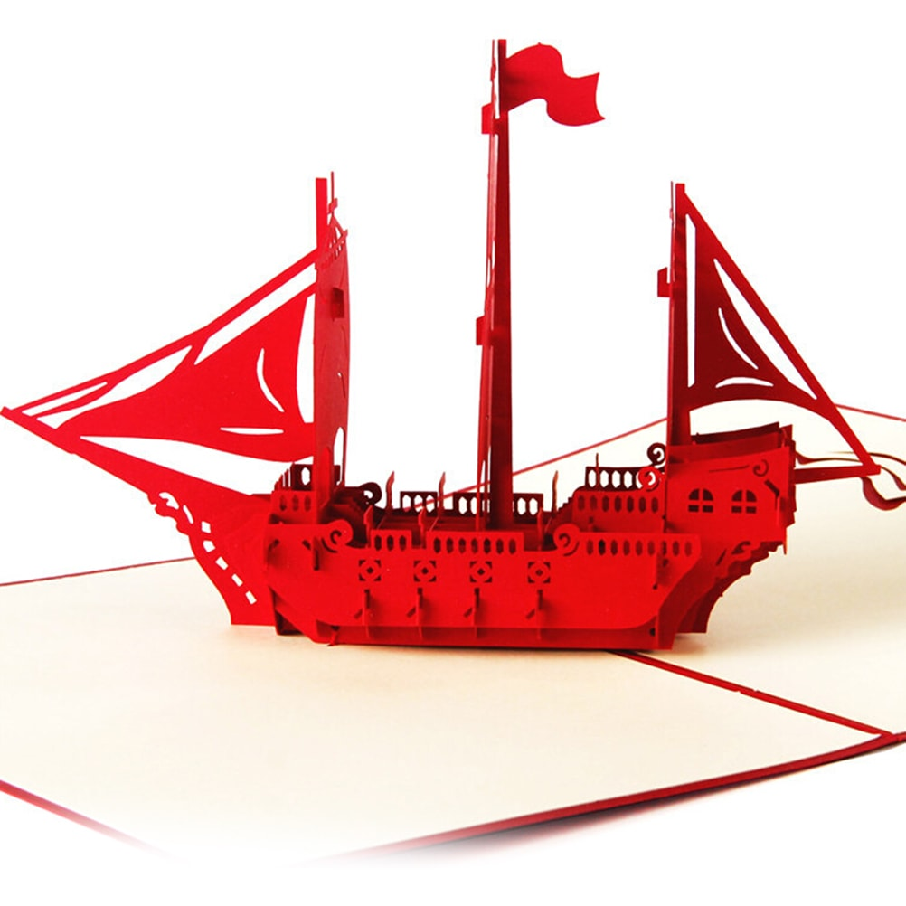 Thiệp 3D con thuyền