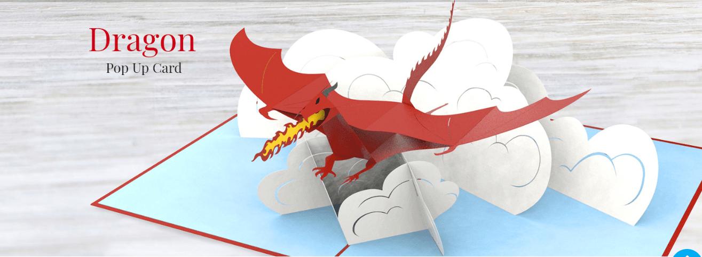 Thiệp pop up dragon