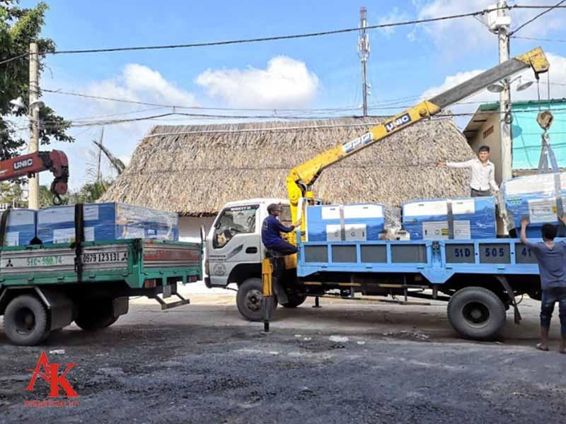 Khách hàng được vận chuyển máy tới tận nơi, đảm bảo an toàn chất lượng