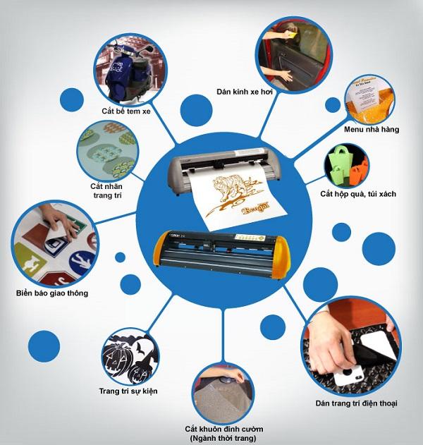 Ứng dụng của máy cắt laser decal trong các lĩnh vực cuộc sống