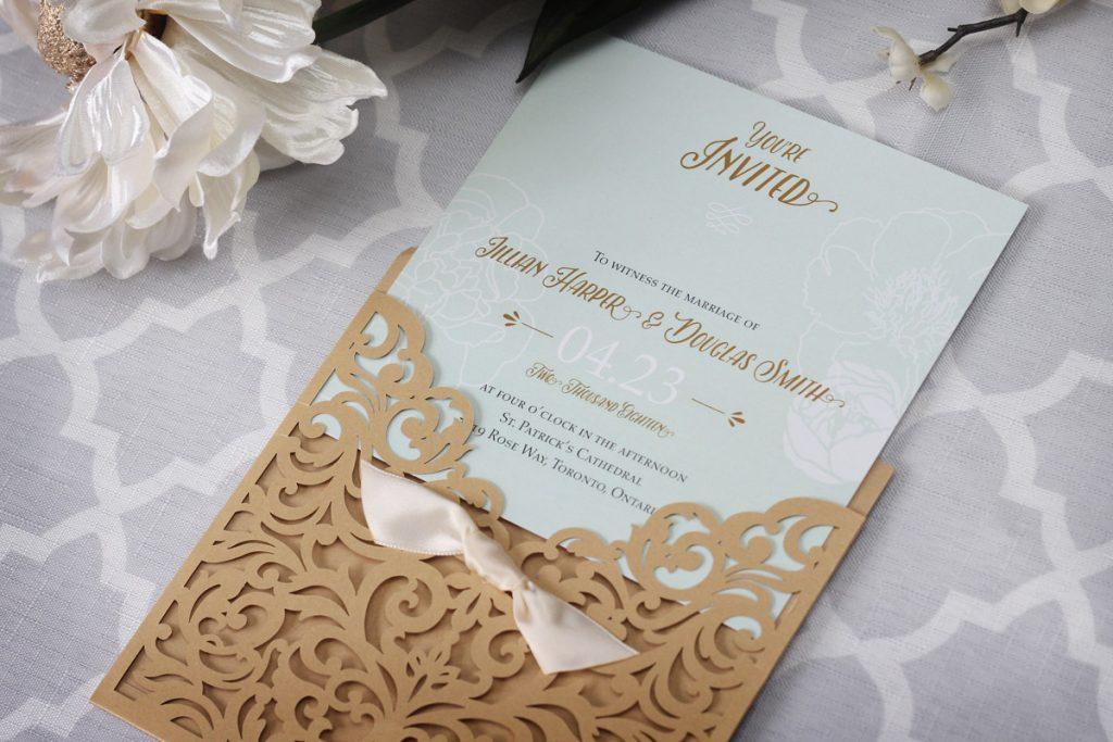 10 mẫu thiệp cưới vintage đẹp khó tin được làm từ máy cắt giấy laser