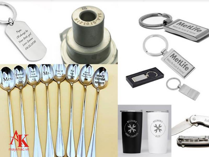 Máy khắc laser kim loại An Khánh khắc được đa dạng chất liệu khác nhau.